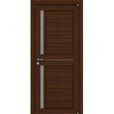 Дверь межкомнатная LIGHT 2121 Орех вельвет Остекленная