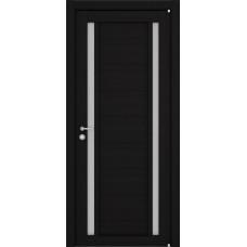 Дверь межкомнатная LIGHT 2122 Шоко велюр Остекленная