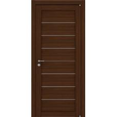 Дверь межкомнатная LIGHT 2125 Орех вельвет Остекленная