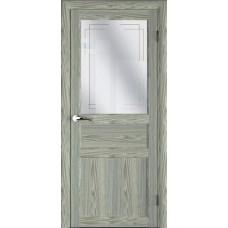 Дверь межкомнатная MASTER 57003 Дуб седой Остекленная