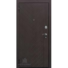 Дверь входная Вектор Лофт Х7, цвет горький шоколад, панель - вектор лофт х7 (пвх, lacobel белое) цвет кремовая лиственница