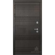 Дверь входная со сменными панелями Министр, цвет горький шоколад, панель - министр цвет кантри горизонт