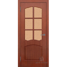 Дверь межкомнатная Альфа Итальянский орех Остекленная