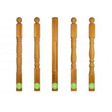 Столб начальный 100х100х1200 мм. точеный, дуб, рис. 1,2,4,5,6