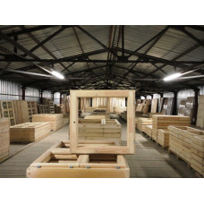 ОС 07-07 недорогой оконный блок деревянный спаренный