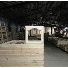 Окно деревянное одинарное ОДО1 п 05-05 ар